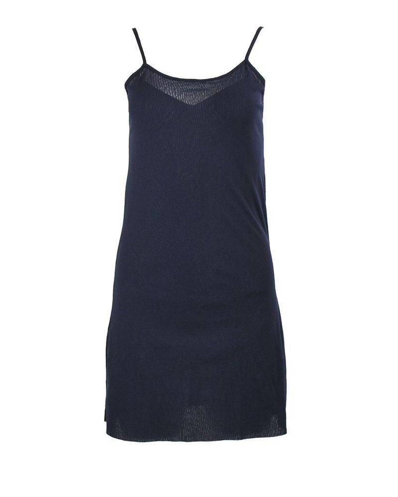 Petit Pois' Dress Under Slip In Midnight Blue
