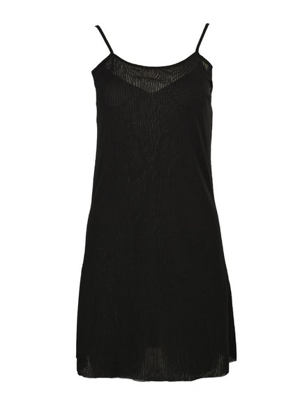 Petit Pois' Dress Under Slip In Black