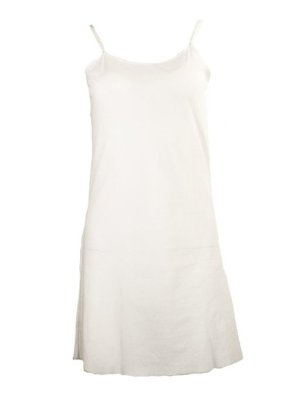 Petit Pois Dress Under Slip In White