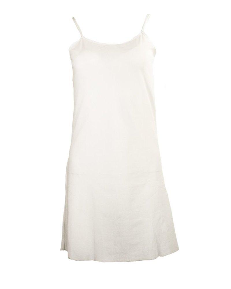 Petit Pois Dress Under Slip In White