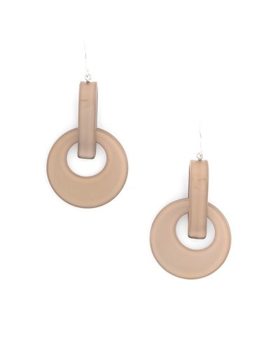 Resin Door Knocker Earrings In Tan