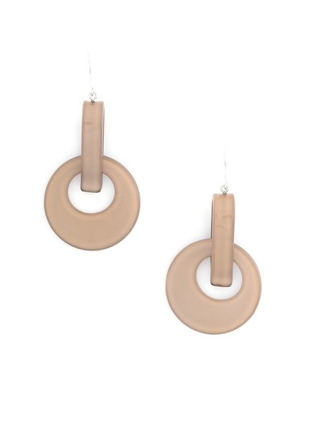 Resin Door Knocker Earrings In Tan