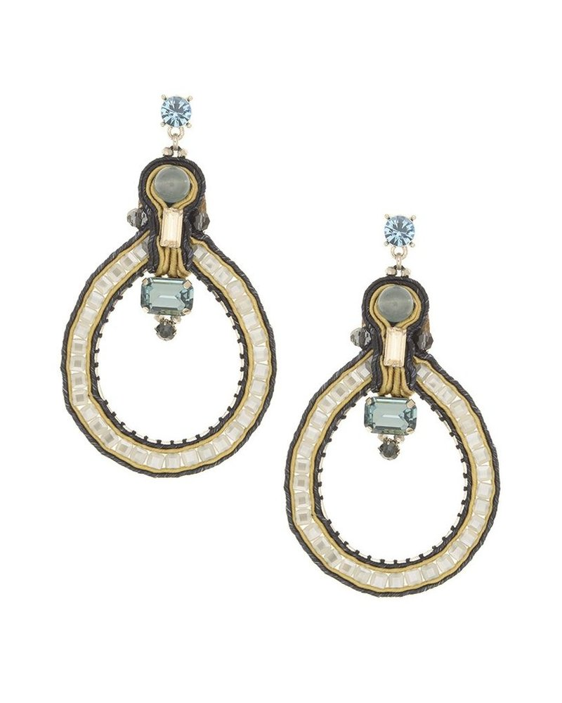 BoHo n' Chic Earrings In Silver Blue