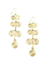 Roll' on the River Drop Earrings In Gold