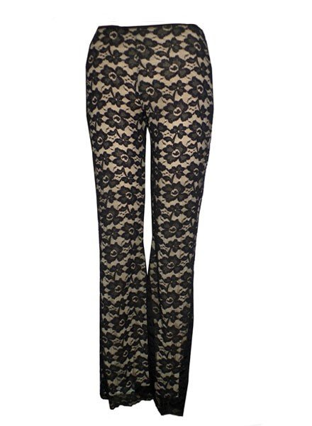 Petit Pois Lace Pants In Black