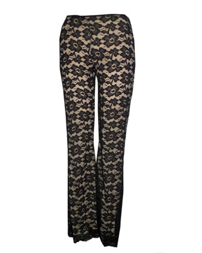 Petit Pois Lace Pants In Black