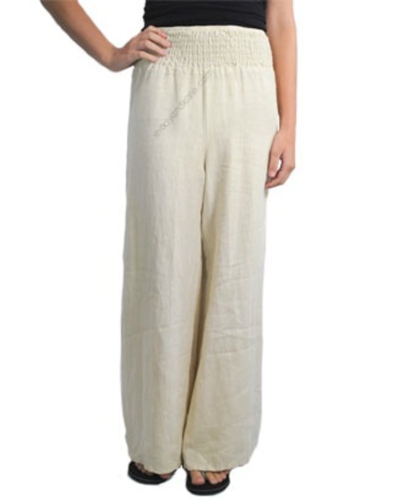 Multi Waist Band Pant In Off White