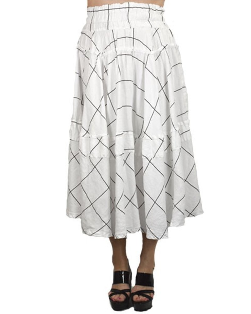 Griza's Tea Skirt In Black & White