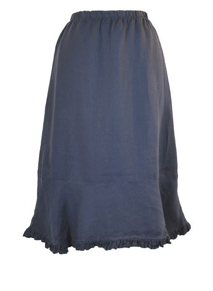 Ruffled Bias Cut Short Skirt In Navy
