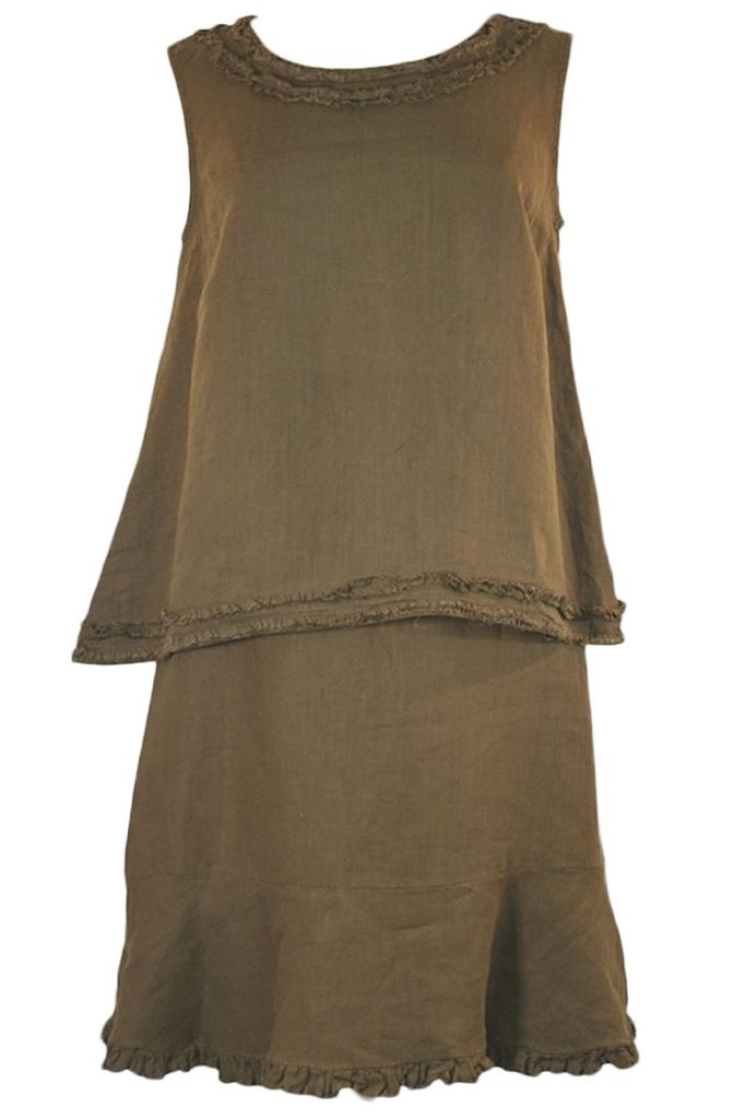 A Little Fringy Tank In Brown