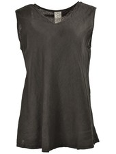The Bias Cut V-Neck Tank In Black