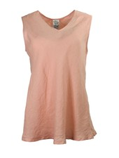 The Bias Cut V-Neck Tank In Salmon