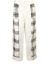 Griza's Big Check Washed Linen Pant
