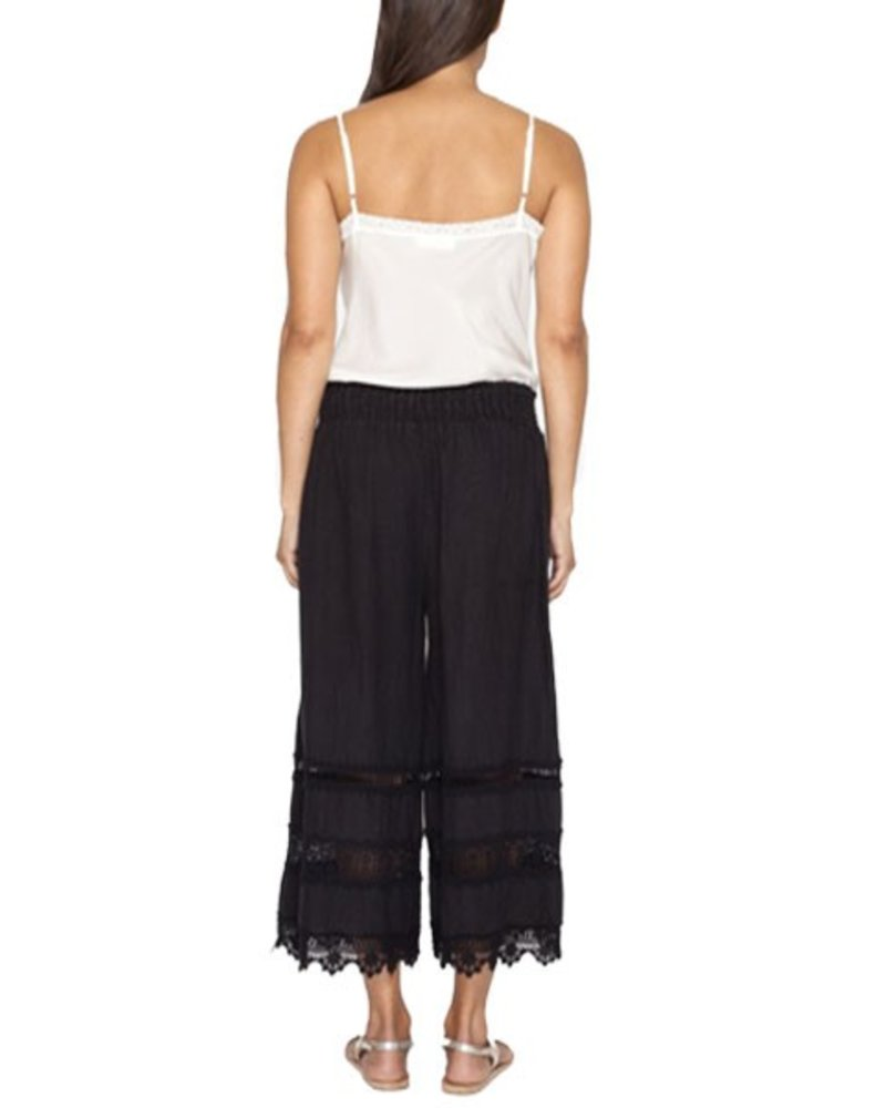 Johnny Was Linen Cropped Pant In Black