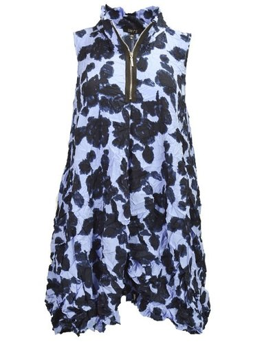 The Verona Vest In Orchid Print