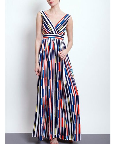 The Gloriously Graphic Cascade Maxi Dress