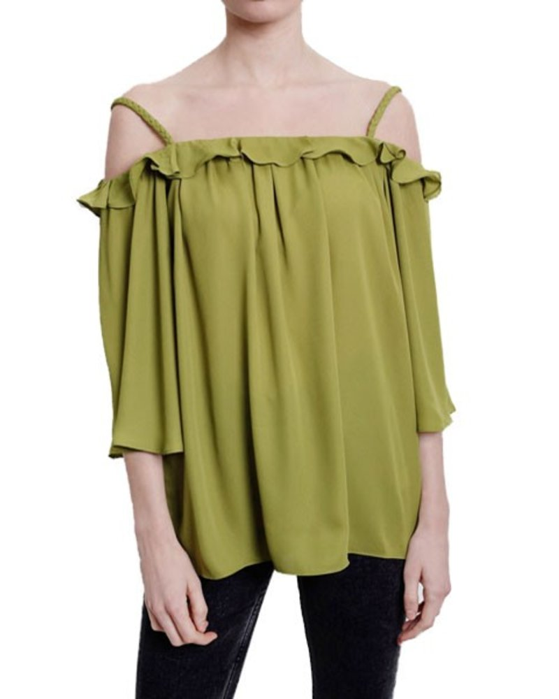 Feel The Breeze Top In Green