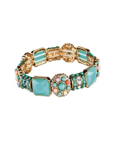 Turquoise Multi Bead Stretch Bracelet