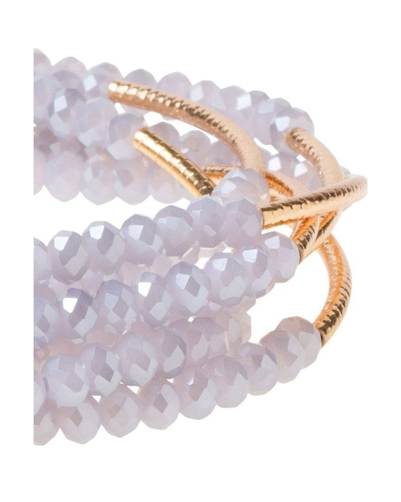 Wrap Bracelet Or Necklace In Lavender & Gold