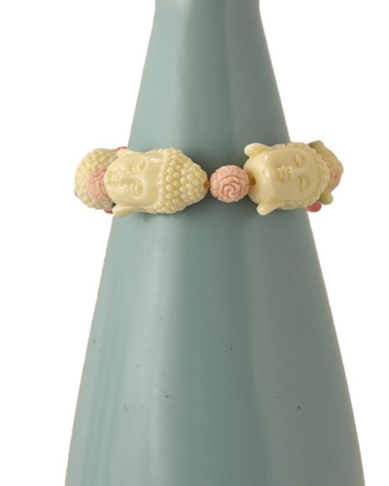 Siddhartha Bracelet In Cream & Pink