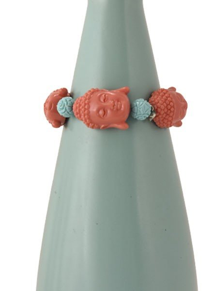 Siddhartha Bracelet In Peachy & Turquoise