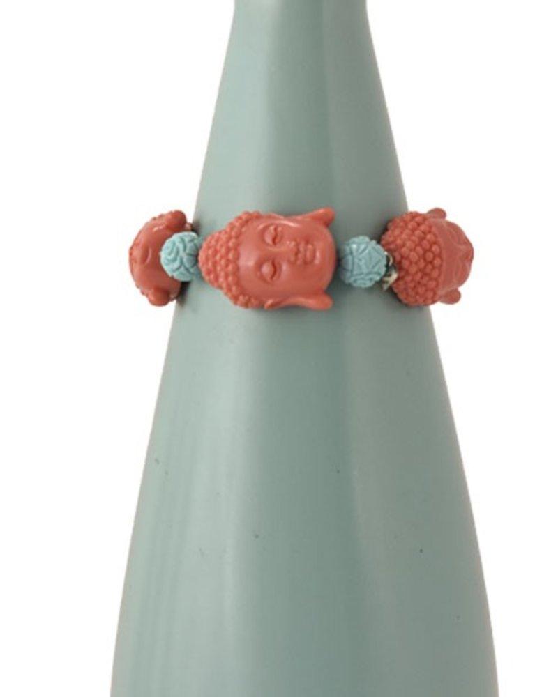 Siddhartha Bracelet In Peachy & Turquoise