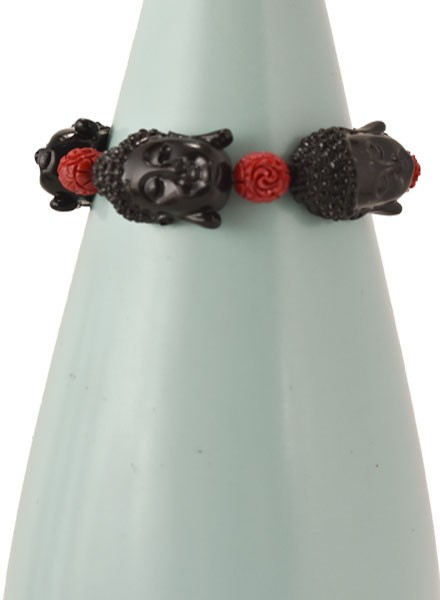 Siddhartha Bracelet In Black & Red