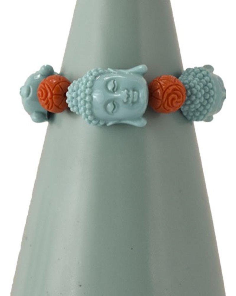 Siddhartha Bracelet In Turquoise & Orange
