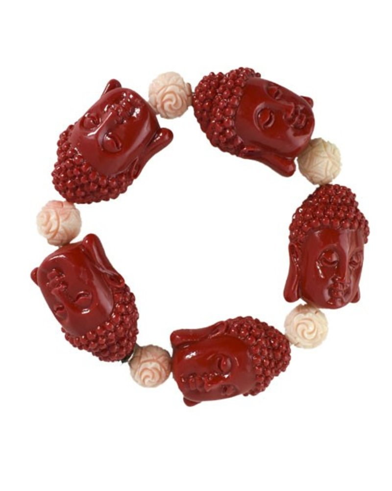 Siddhartha Bracelet In Red & Light Pink