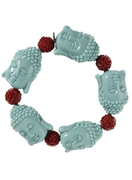 Siddhartha Bracelet In Turquoise & Red