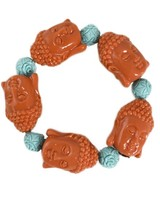 Siddhartha Bracelet In Orange & Turquoise