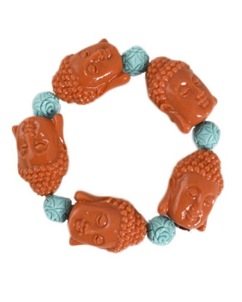 Siddhartha Bracelet In Orange & Turquoise