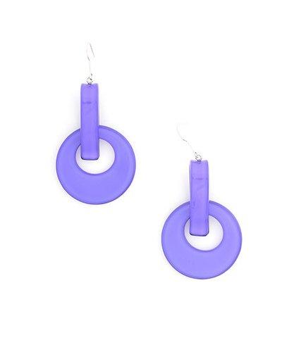 Resin Door Knocker Earrings In Purple