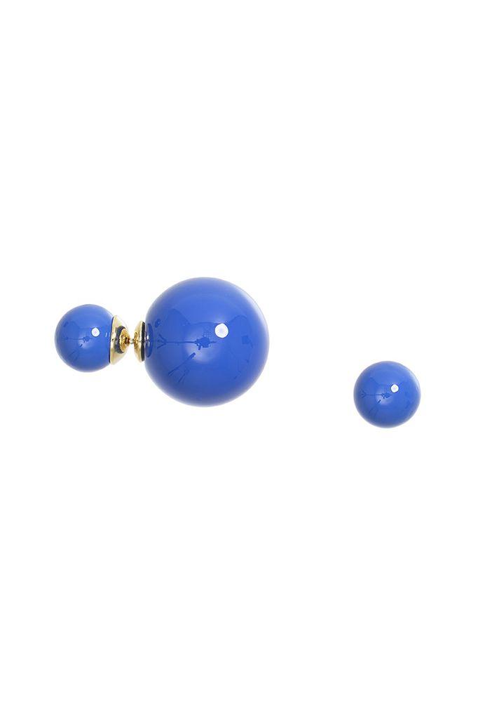 It Takes Two Earrings In Colbalt