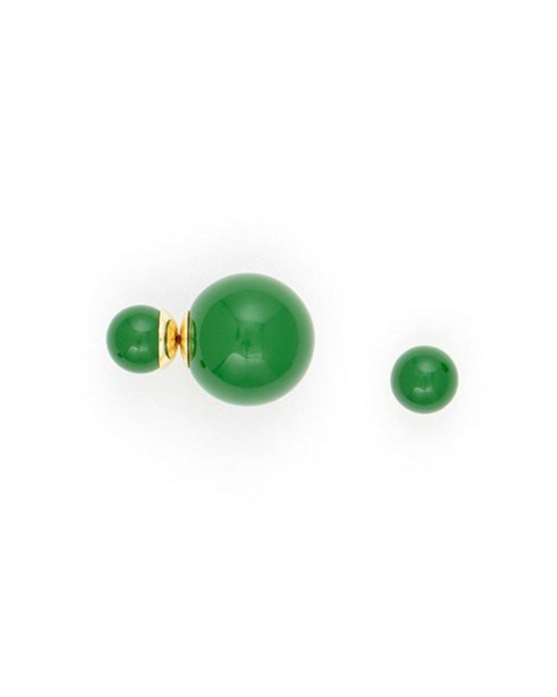 It Takes Two Earrings In Dark Green