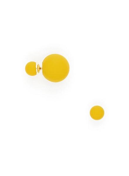 Matte Double Ball Earring In Honey