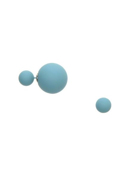 Matte Double Ball Earring in Turquoise