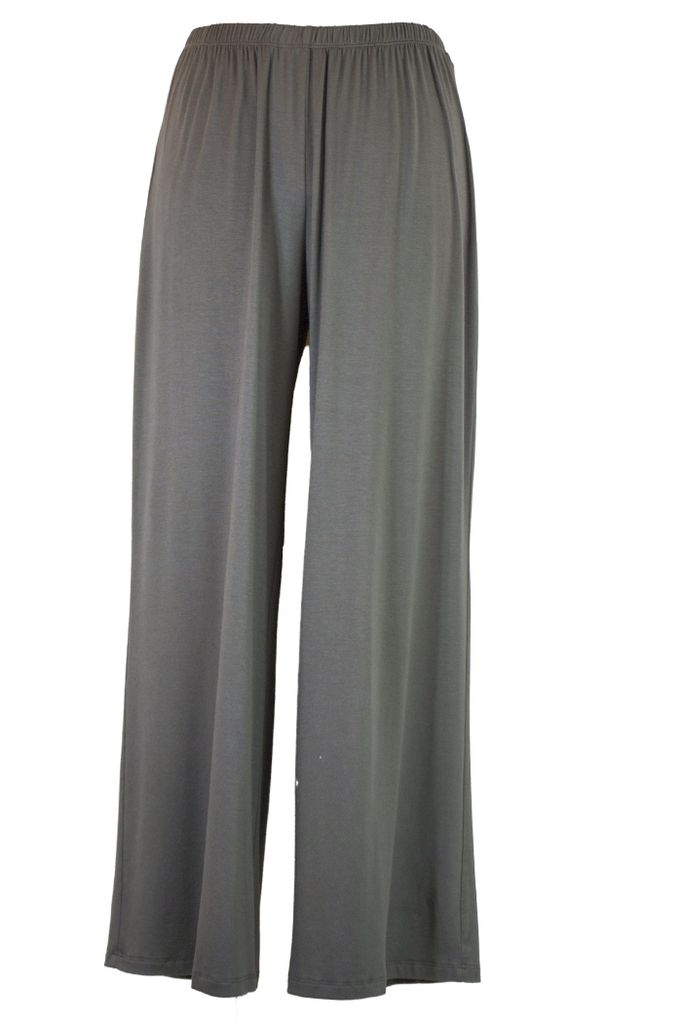 Comfy Long Wide Leg Pant In Charcoal