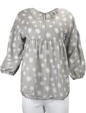Ivy Jane's Dandlions Top In Soft Grey