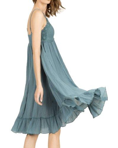 Summer In Woodstock Dress In Blue