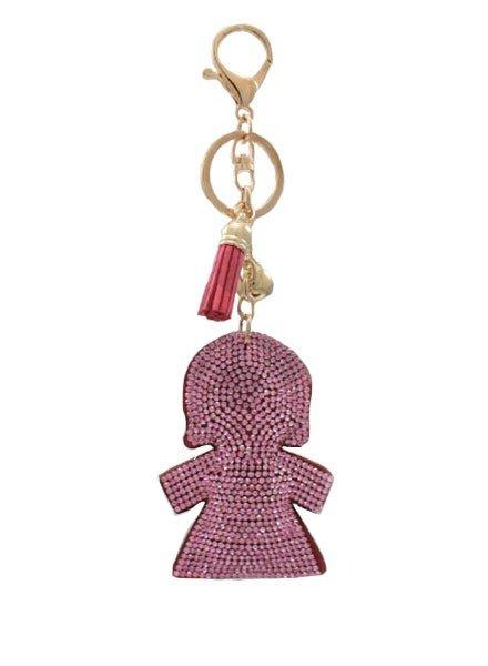 Lil Girl Crystal Keychain