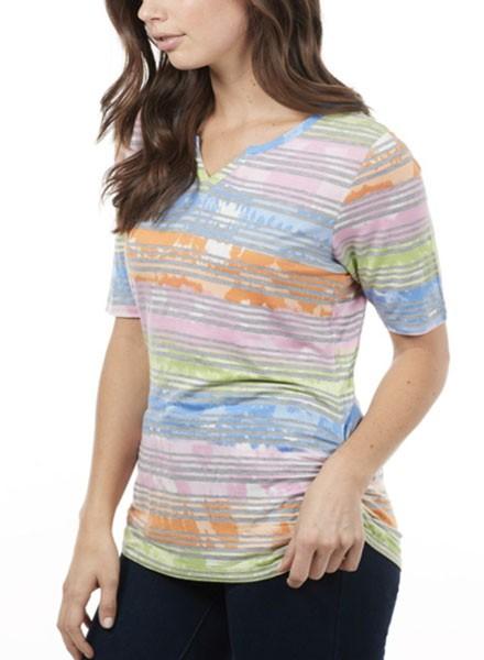 Color & Stripes Top