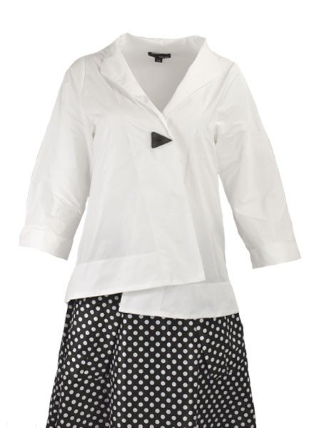 Sun Kim Jacket In White Memory Fabric