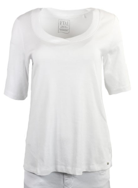 French Dressing Scoop Neck Tee In White