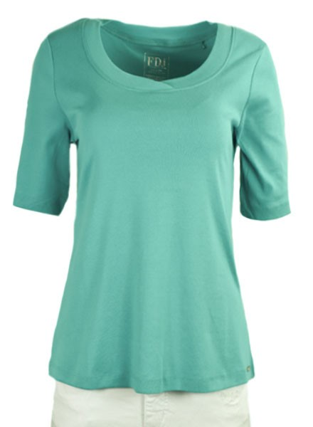 French Dressing Scoop Neck Tee In Seagreen