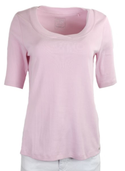 French Dressing Scoop Neck Tee In Rose