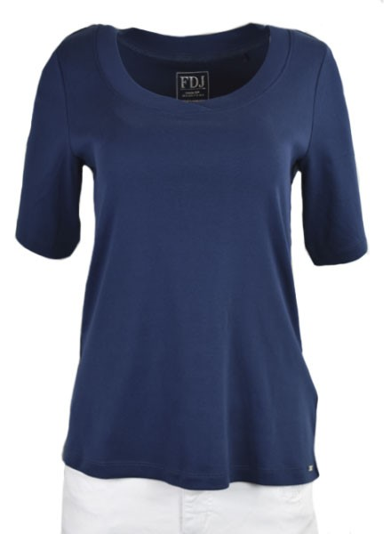 French Dressing Scoop Neck Tee In Navy