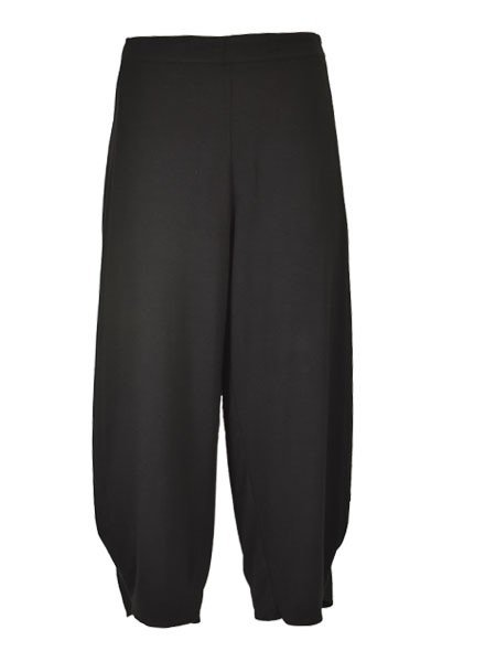 Comfy's Flat Front Ankle Pant In Black