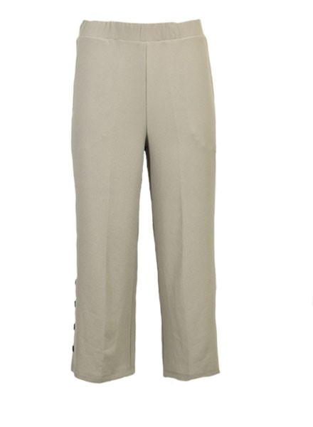 Jason Textured Crepe Crop Pant In Henna