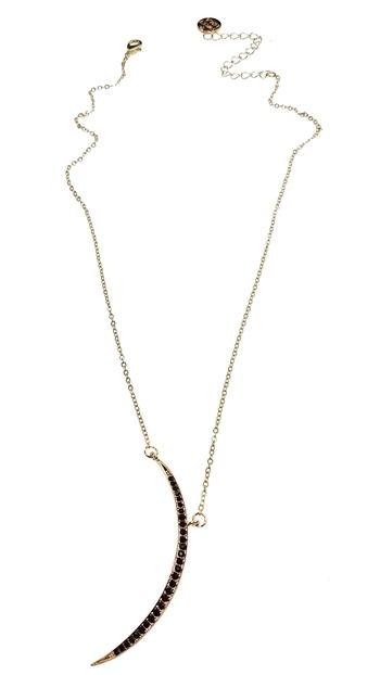 Black Crystal Moon Necklace